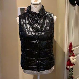 Converse One Star puffer black vest EUC sz Med